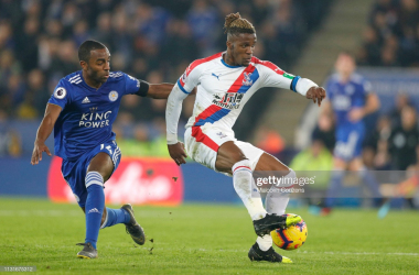 Leicester will be aiming to halt Wilfried Zaha and Crystal Palace on Sunday | Photo: Getty/ Malcolm Couzens