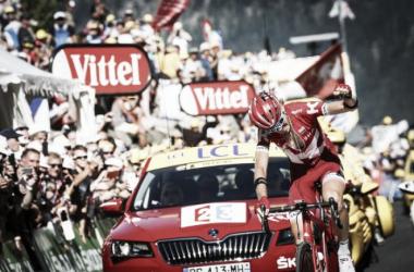 Ilnur Zakarin celebra la victoria conseguida | Foto: Tour de Francia