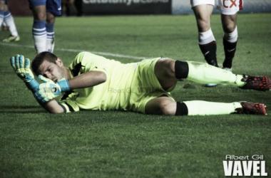 Víctor Ibáñez viene siendo el portero titular del Real Zaragoza B desde hace unos meses (Foto: Albert Gil | VAVEL)
