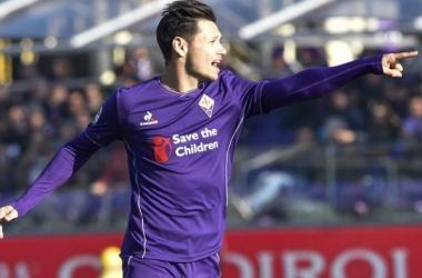Babacar celebrando el gol de la victoria en el partido de ida // Forza Italian Football