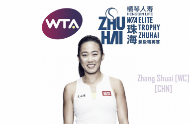 Zhang Shuai will compete in Zhuhai for the second time in her career | Edit: Don Han
