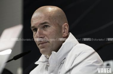 Zidane en rueda de prensa. Foto: Daniel Nieto (VAVEL).