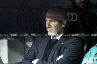 Zidane en su último partido de liga en el Bernabéu, curiosamente también fue frente al Celta | Foto: VAVEL