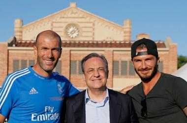 """Beckham, sobre el nombramiento de Zidane: """"¿Hay algo mejor que esto?"""""""