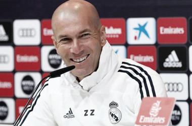 Zidane en rueda de prensa. Fuente: Real Madrid.