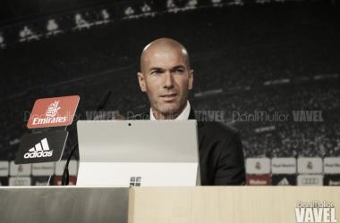 """Zinedine Zidane: """"Es una victoria merecida, muy trabajada y contento por el resultado"""""""