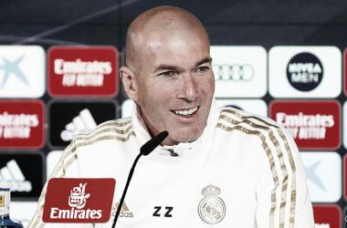 Zinedine Zidane en rueda de prensa / Real Madrid Web Oficial