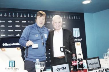 Ricardo Zielinski y Victor Blanco, juntos en la presentación del DT. | Fuente: Racing Club.