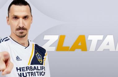 Zlatan Ibrahimovic en su presentación con LA Galaxy