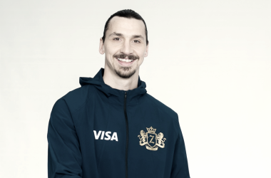 Zlatan in his new VISA gear.   Photo: Reuters Wire Images