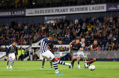 Kenneth Zohorerescued a late point from the penalty spot against Reading on Wednesday night to maintain West Brom's unbeaten start.Photo by Laurence Griffiths/Getty Images.