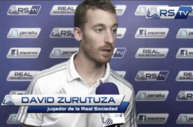 David Zurutuza, hablando ayer ante Real Sociedad TV. Imagen: RealSociedadTV
