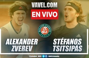 Resumen: Alexander Zverev 2-3 Stéfanos Tsitsipás en semifinal de Roland Garros 2021