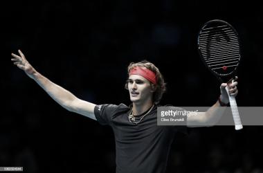 Zverev celebra su victoria. Foto: Getty Images.