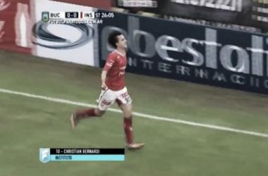 Gol de Bernardi.   Foto: FPT