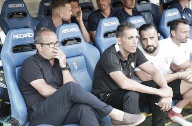 Álvaro Cervera durante un encuentro. Fuente: cadizcf.com