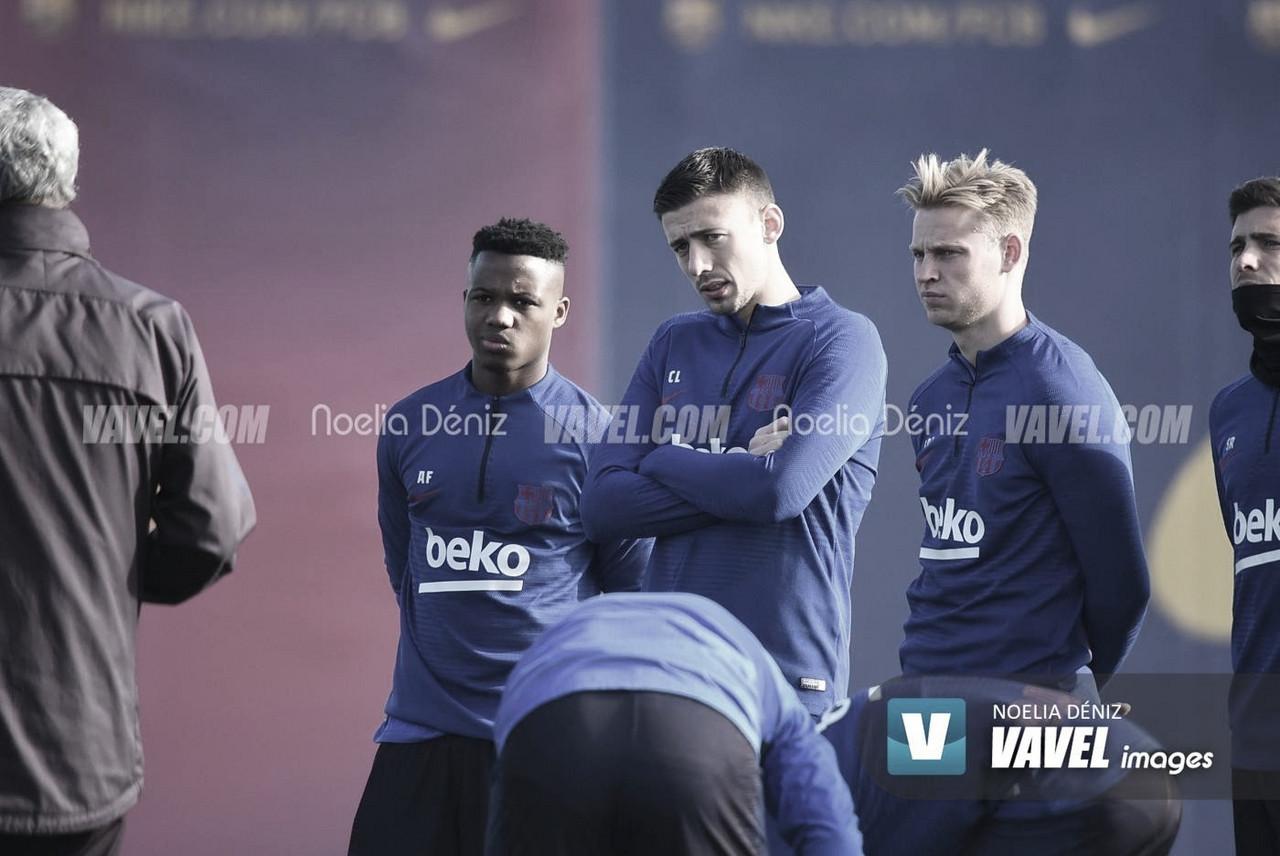 Tercer entrenamiento en grupo del Barcelona