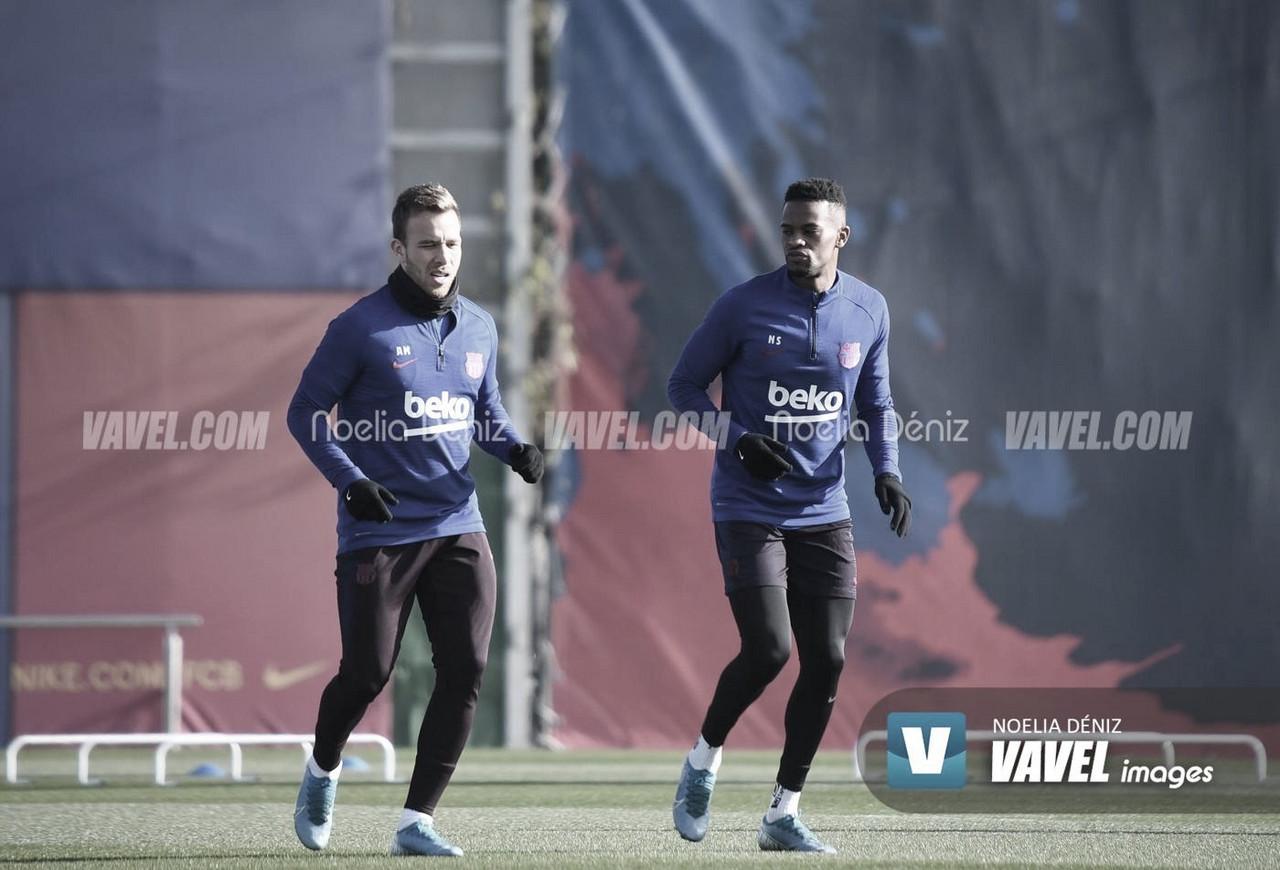 El Barça entrena antes de viajar a Villarreal