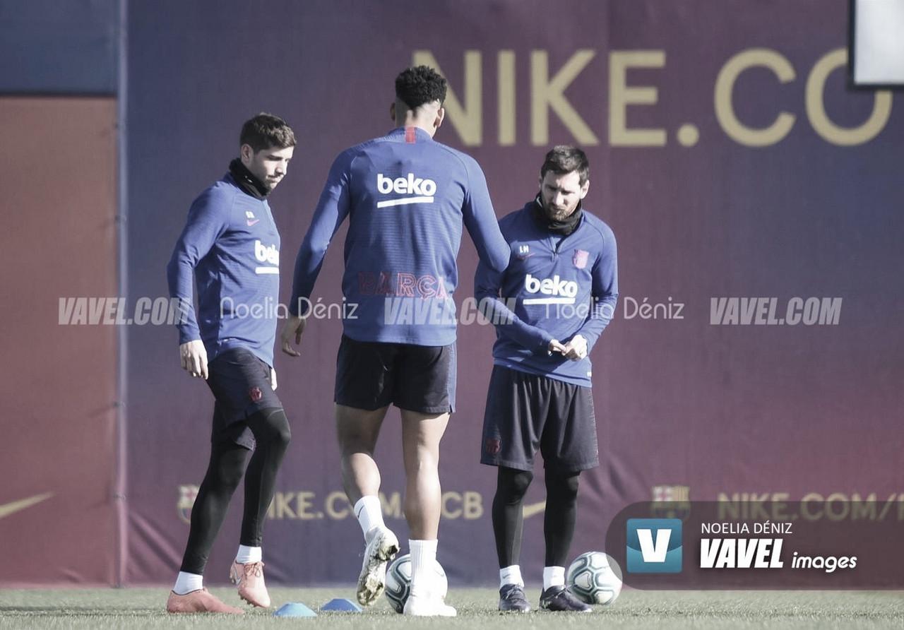 El Barça prepara sin Messi el regreso a la competición