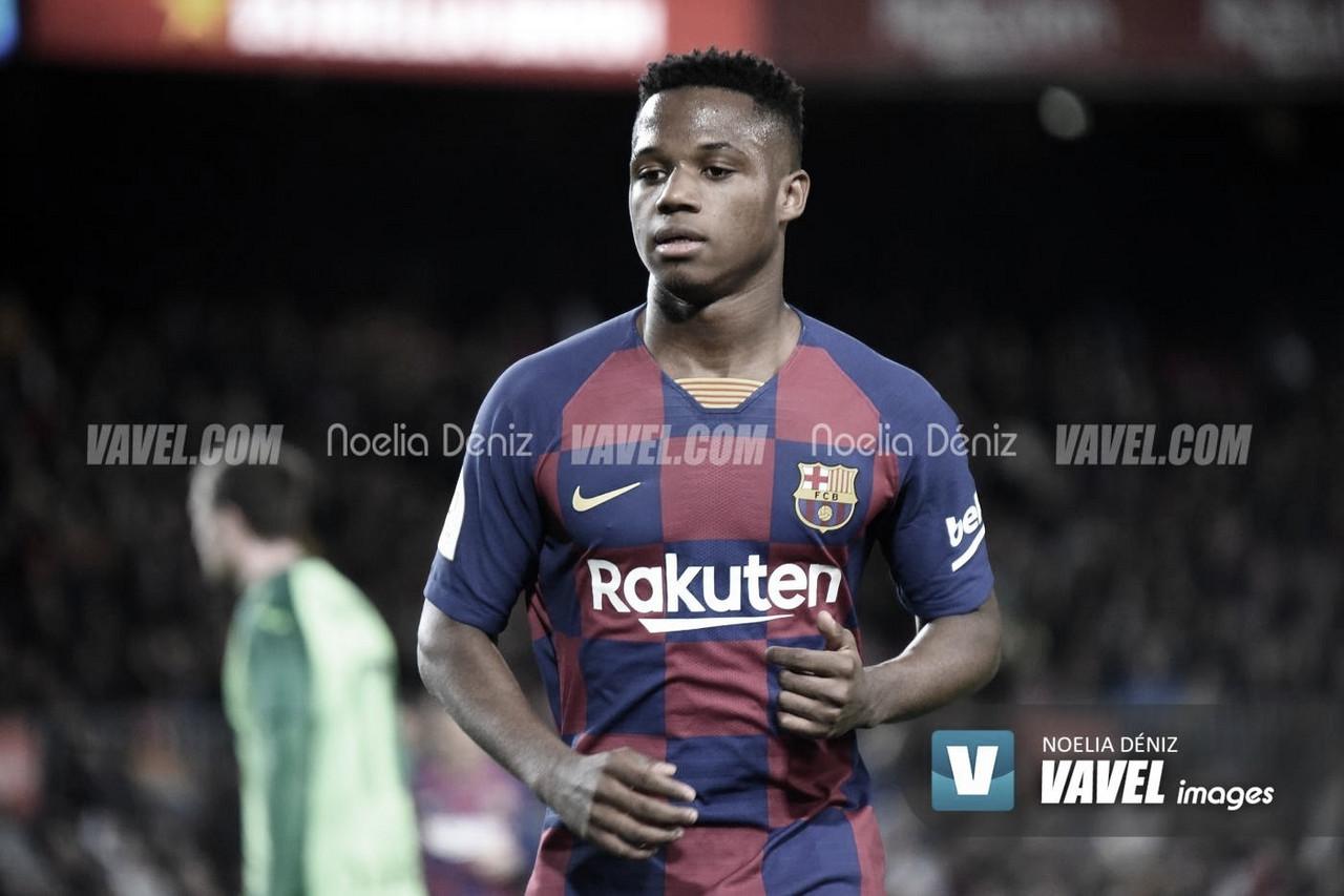 Ansu Fati anota el gol 9.000 del FC Barcelona