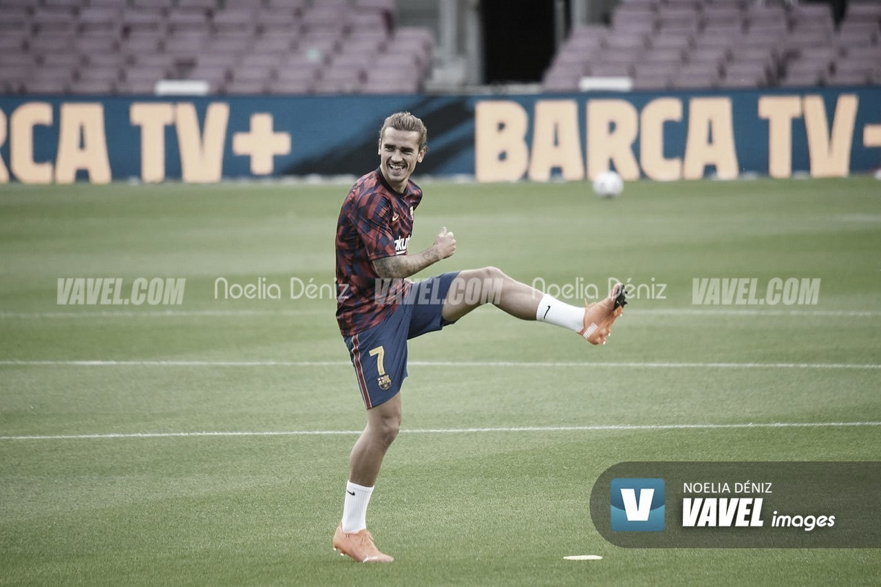 Griezmann ejercitándose en el Camp Nou | Foto: Noelia Déniz
