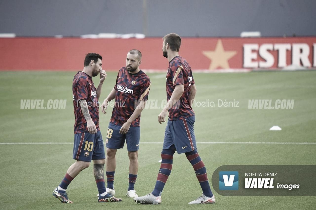 Entrenamiento del FC Barcelona con la mirilla puesta en el Villarreal