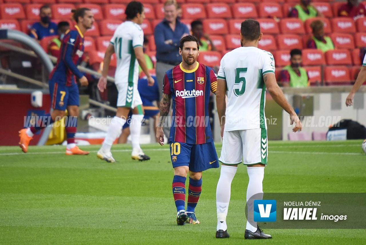 Messi y Lucas Pérez, estrellas con la pólvora mojada