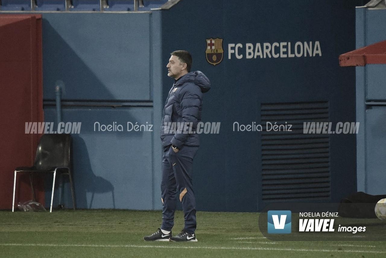 García Pimienta en el Johan Cruyff. | Foto: Noelia Déniz