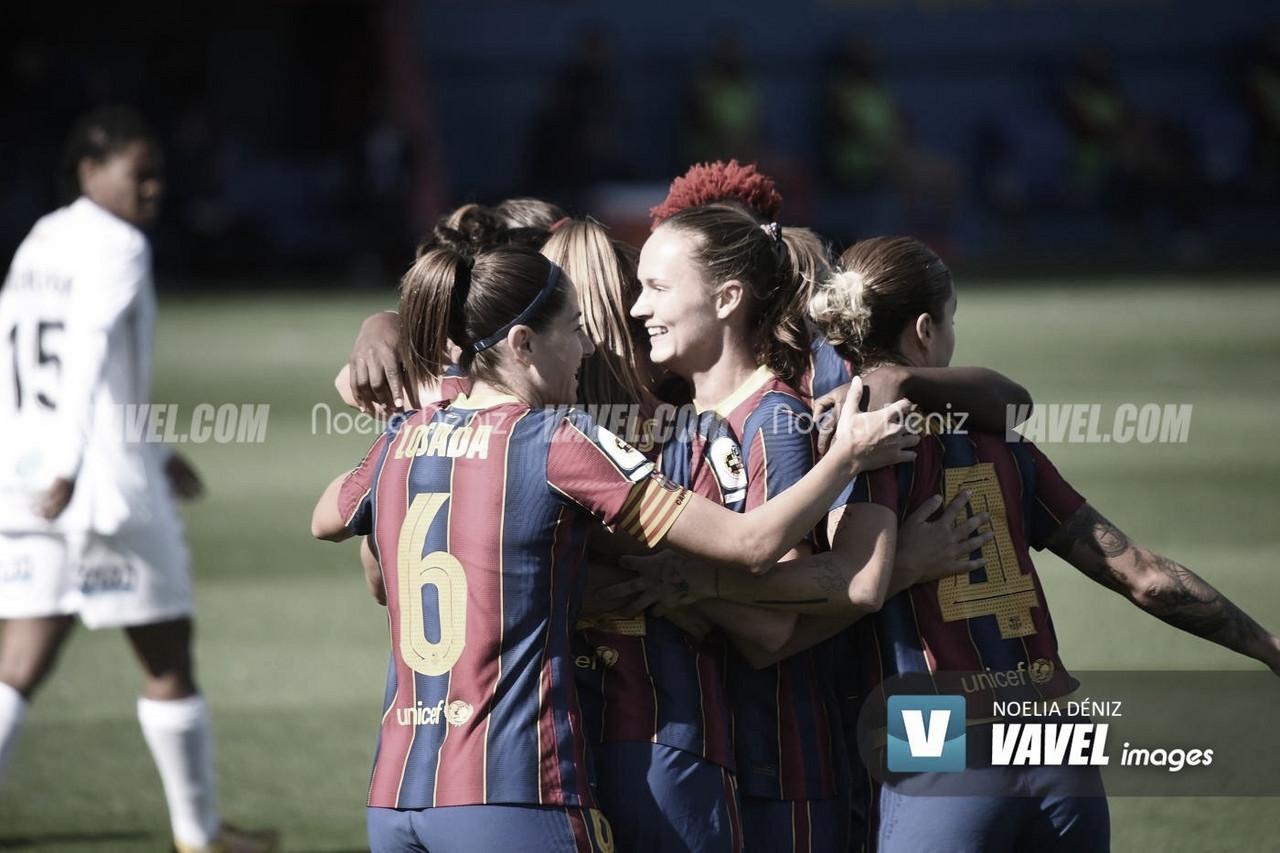 Graham celebrando un gol con el equipo. | Foto: Noelia Déniz