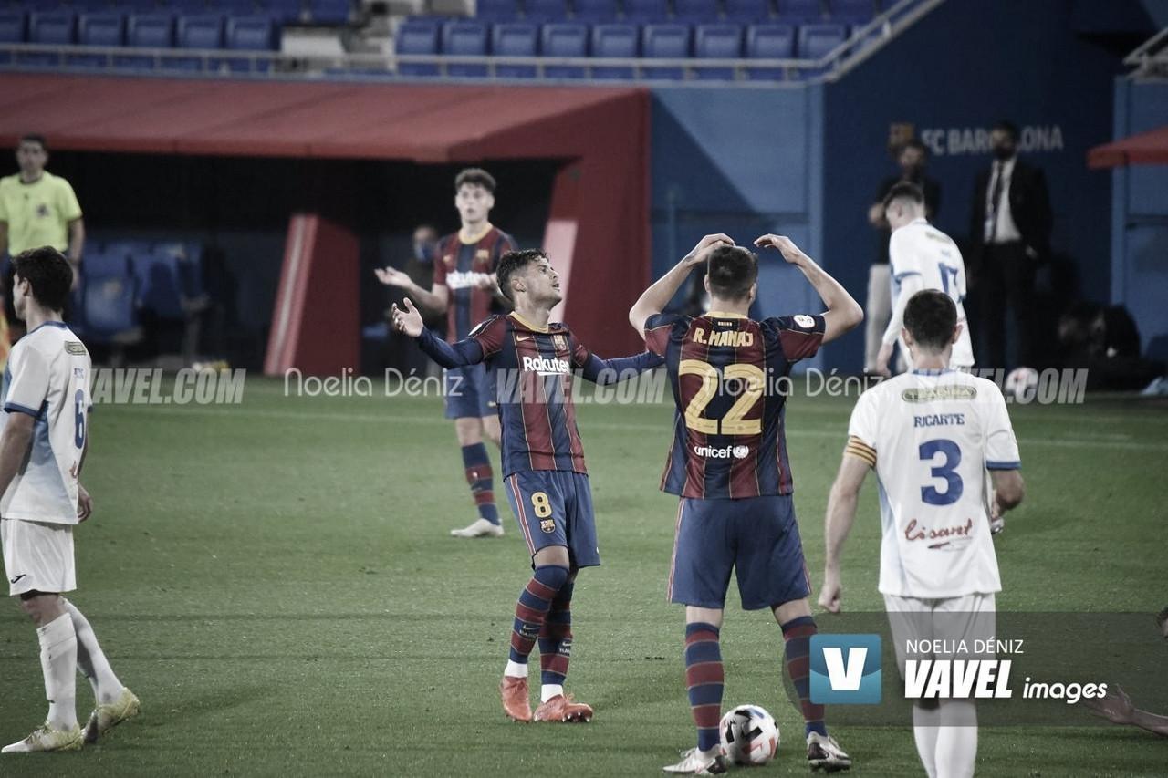 Lucas de Vega lamentándose de una ocasión fallida | Foto: Noelia Déniz