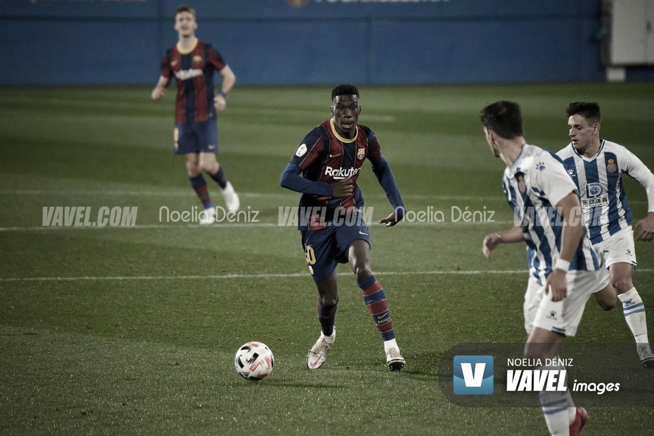 Ilaix Moriba ante el Espanyol B. | Foto: Noelia Déniz (VAVEL)