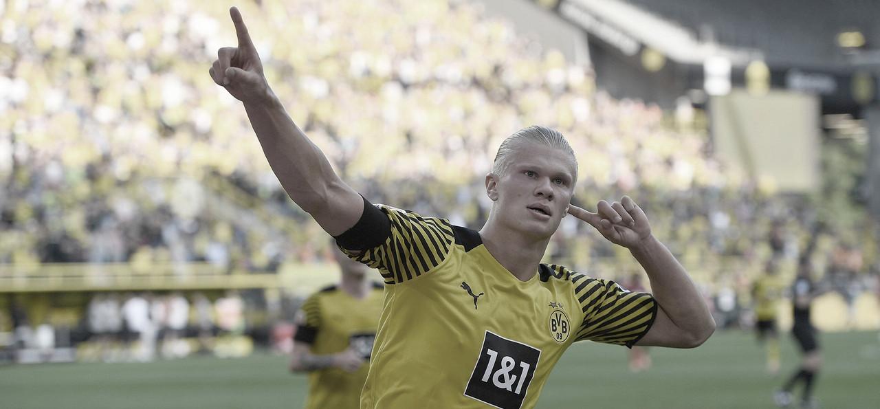 Com show de Haaland, Borussia Dortmund goleia Frankfurt na primeira rodada da Bundesliga