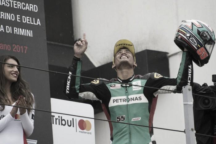 Syahrin, el piloto más contento de Moto2 en el GP de San Marino
