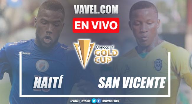 Goles y resumen del Haití 6-1 San Vicenteen Eliminatorias Copa Oro 2021