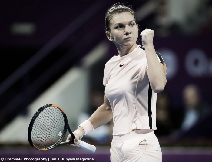 WTA Doha: Simona Halep ousts Catherine Bellis before withdrawing due to foot injury