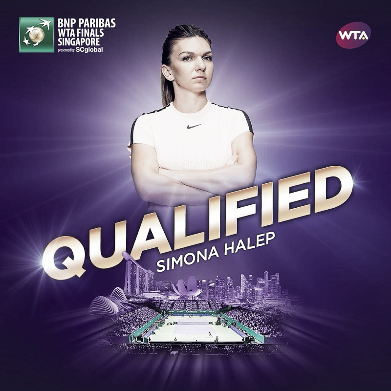 Simona Halep qualifies for WTA Finals