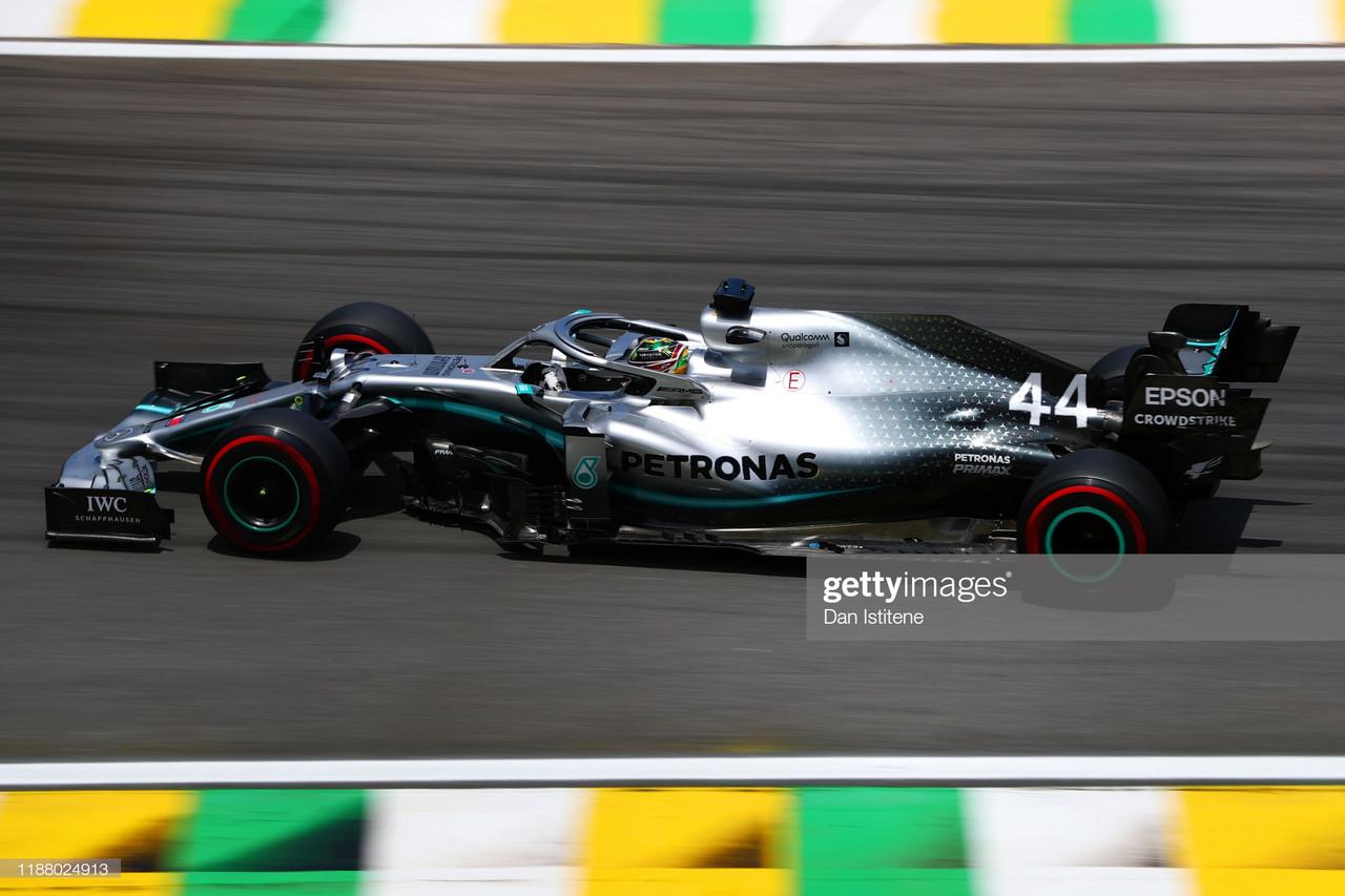 Hamilton back on top in Brazil FP3