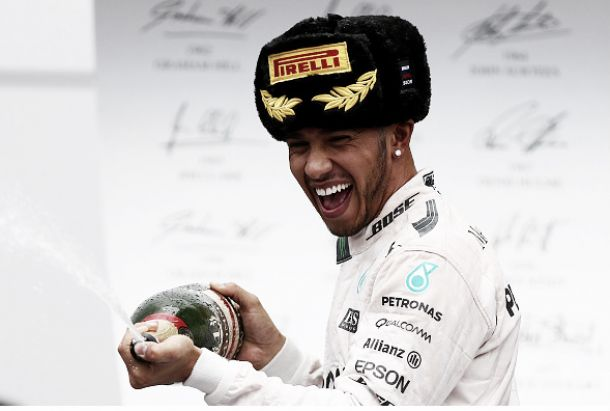 Russian Grand Prix: Hamilton wins incident filled race as Sergio Perez grabs podium