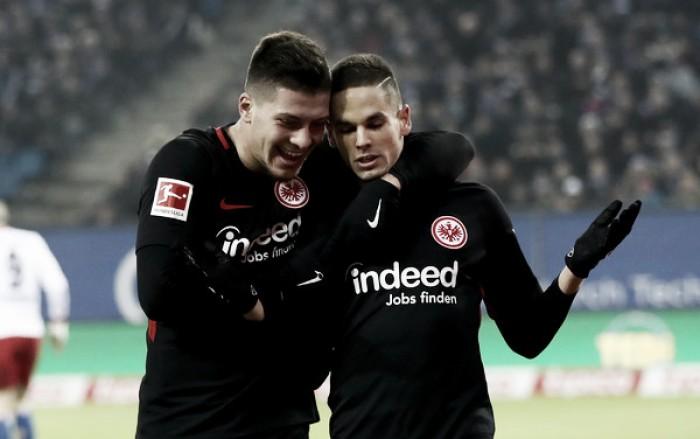 Eintracht Frankfurt busca virada sobre Hamburgo fora de casa e sobe às primeiras posições