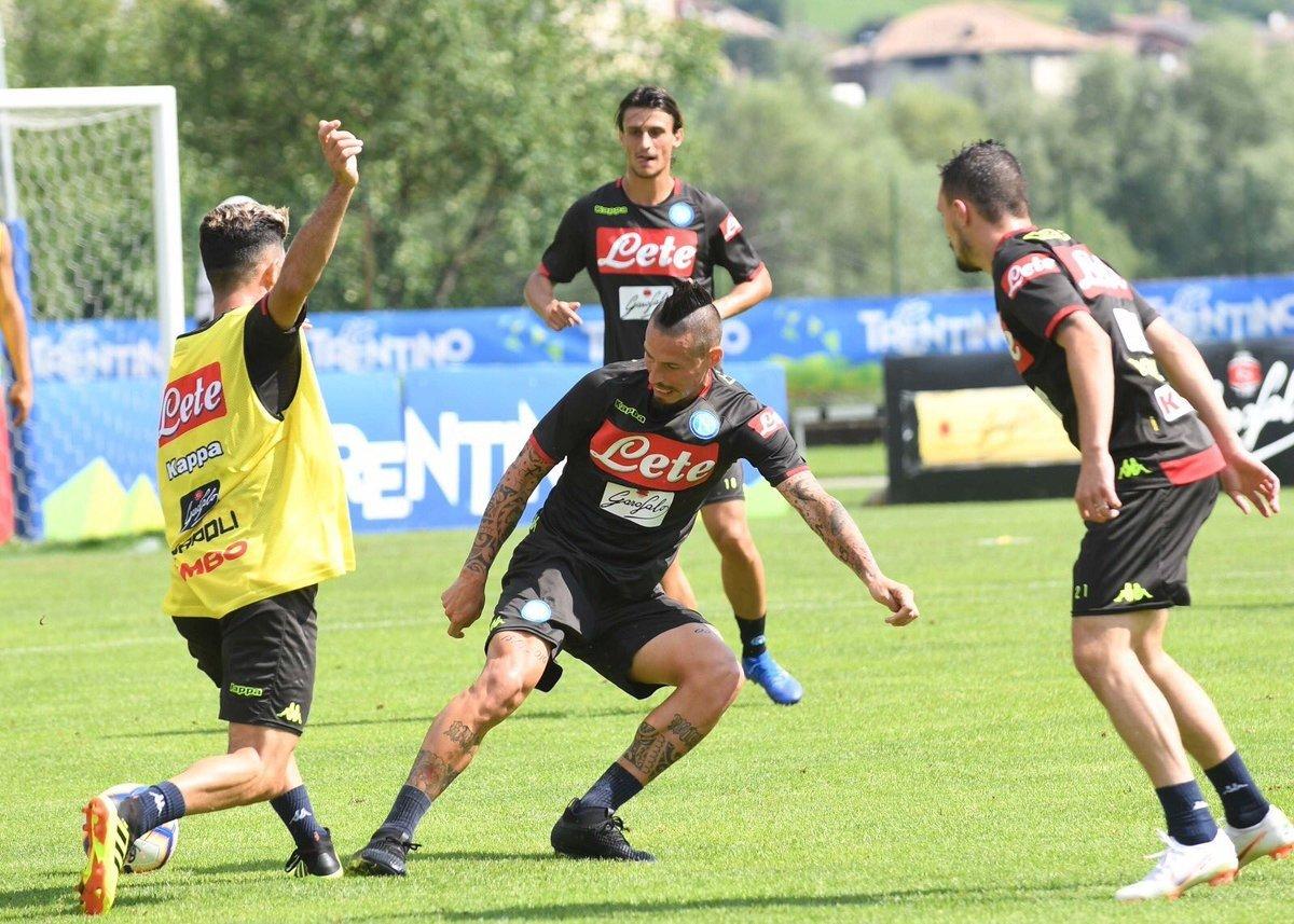 Napoli, ultimo test Trentino: c'è il Chievo