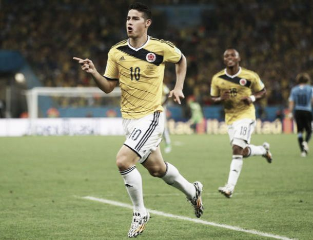 Colombia 2-0 Uruguay: James Rodriguez sends Colombia to Brazil quarter final clash with two sublime goals