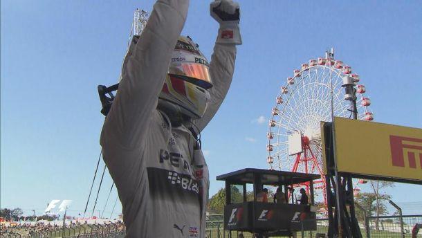 Hamilton trionfa a Suzuka ed eguaglia Senna, Ferrari 3° e 4°