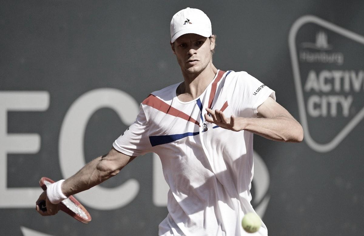 Monfils cai para Hanfmann logo na estreia do ATP 500 de Hamburgo