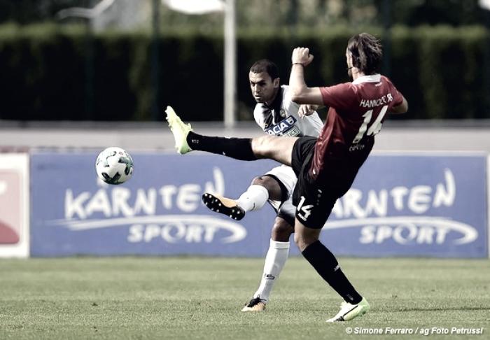 Udinese - Contro l'Hannover le gambe sono ancora imballate, è pareggio anche con i tedeschi (1-1)