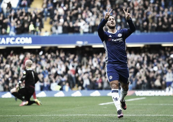 Com homenagens a Willian, Chelsea controla e vence Leicester