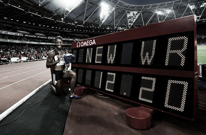 American Kendra Harrison smashes Women's 100m Hurdles World Record in London