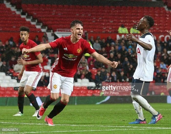 Man Utd U23 3-2 Tottenham U23: Reds climb to final position of 6th thanks to Harrop hat-trick