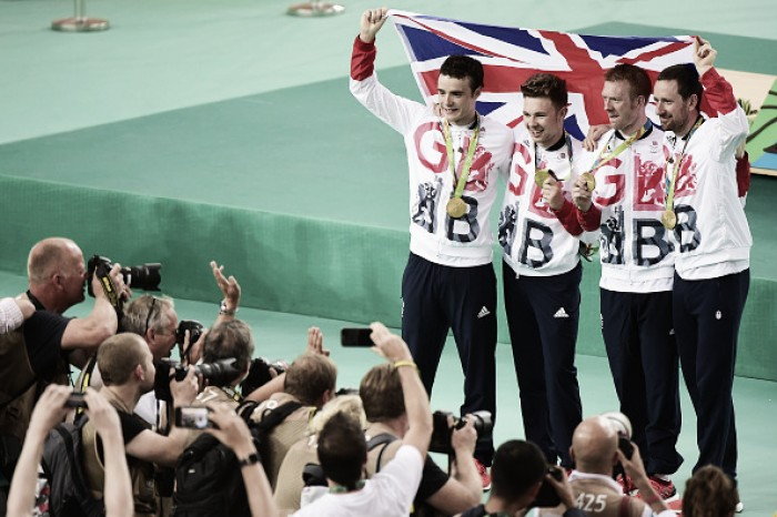 Olympics-Cycling-Britain beat US to gold in women's team pursuit