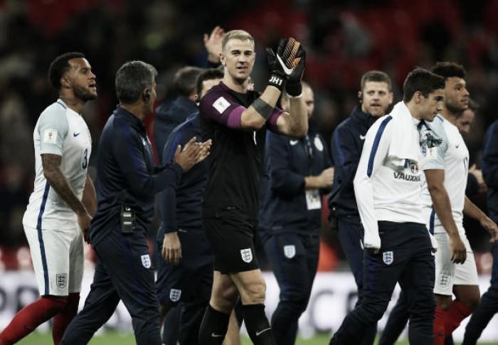 """Hart elogia desempenho da Seleção Inglesa: """"Foram brilhantes hoje"""""""