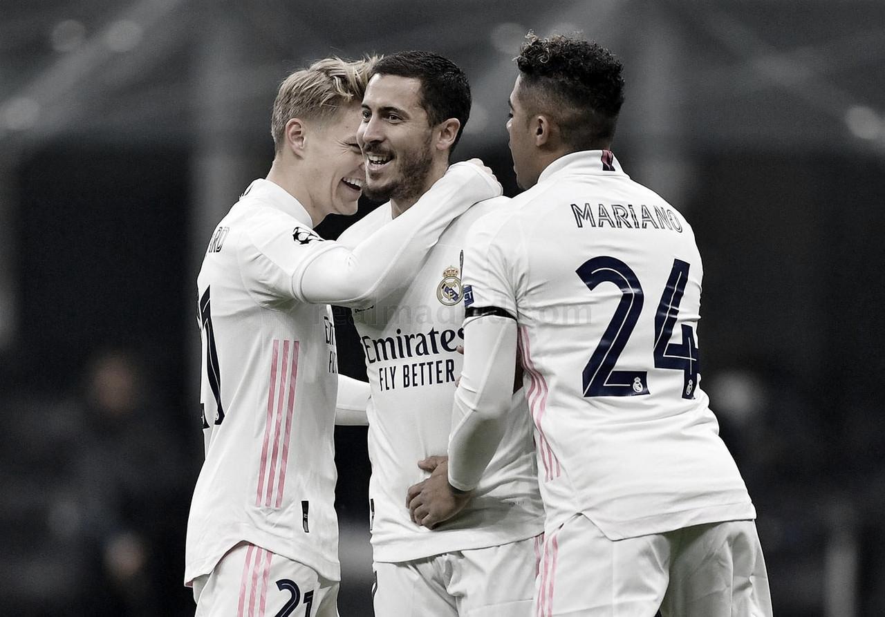 Hazard celebrendo el 0-1. Fuente: Real Madrid